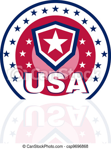Vector background for Independence Day and other Usa events - csp9696868