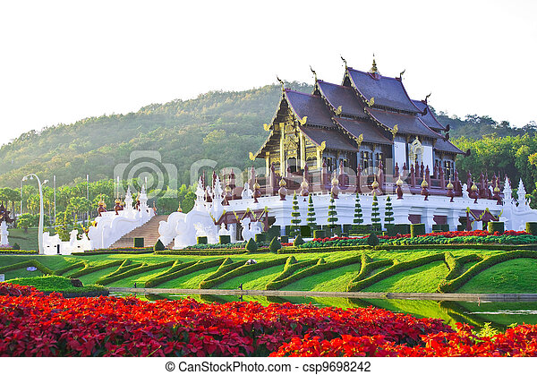 Golden hall, the landmark of Chiang Mai, Thailand - csp9698242