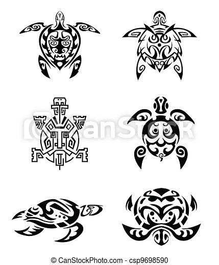 clipart vecteur de tortue tatouage csp9698590 recherchez des images graphiques vecteur eps. Black Bedroom Furniture Sets. Home Design Ideas