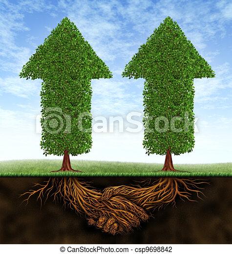 Clip Art of Business Partnership Growth - Business partnership ...