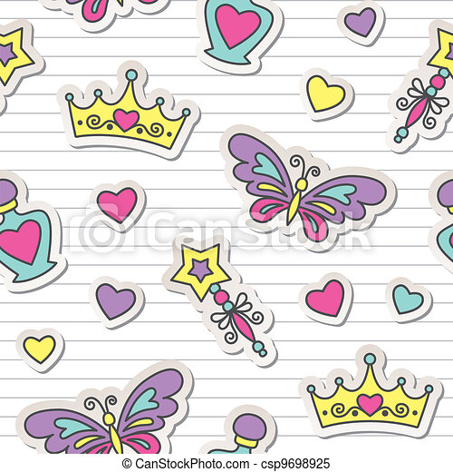 princess pattern - csp9698925