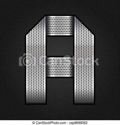 Letter metal chrome ribbon - A - csp9699062