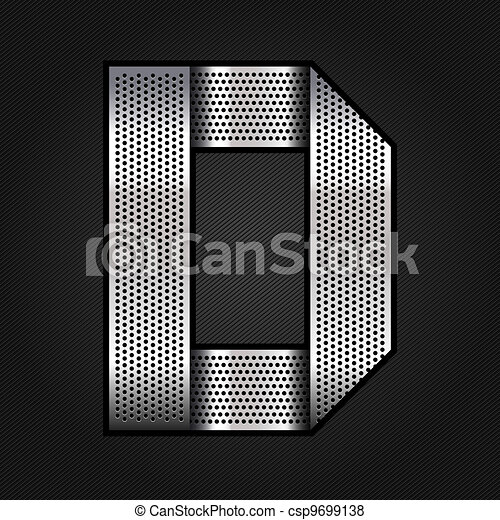 Letter metal chrome ribbon - D - csp9699138