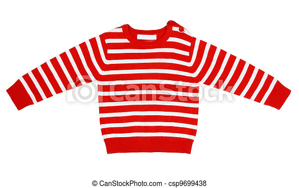 orange striped sweater for children - csp9699438