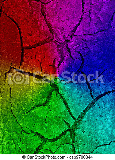 abstract rainbow drought details, desert texture - csp9700344