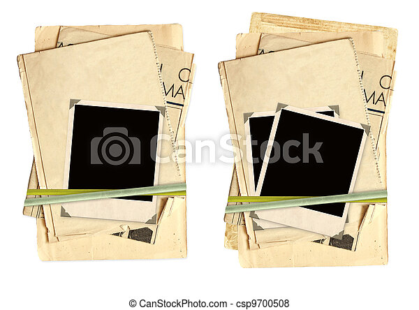 Collection old cards for scrapbooking - csp9700508