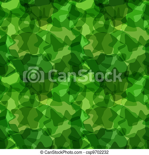 Seamless pattern green camouflage - csp9702232