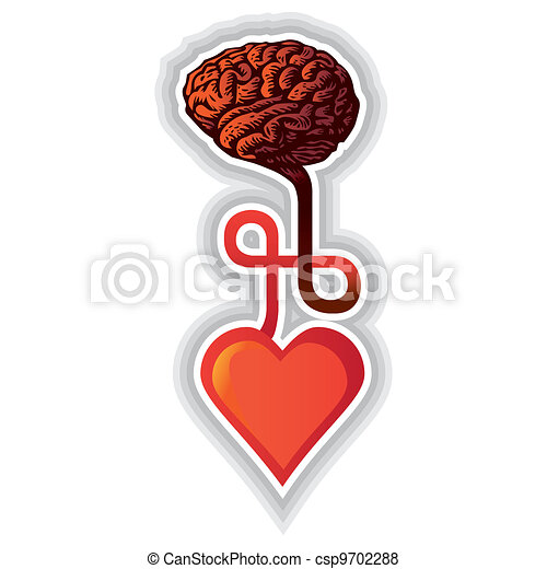 connection between heart and brain - illustration - csp9702288