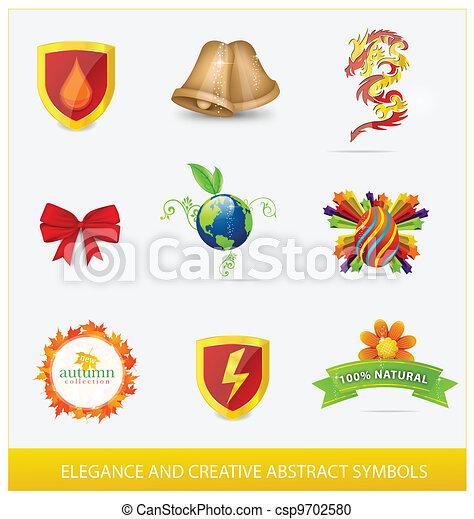 creative elegance web and nature sign - csp9702580