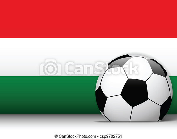 Hungary Soccer Ball with Flag Background - csp9702751