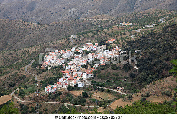 Small village in the Sierra Nevada. Andalusia Spain - csp9702787