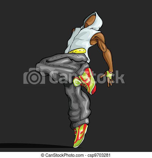 Dancing Trendy Guy - csp9703281