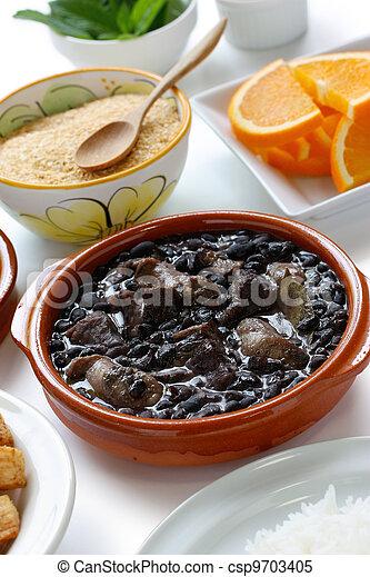 feijoada, brazilian cuisine - csp9703405