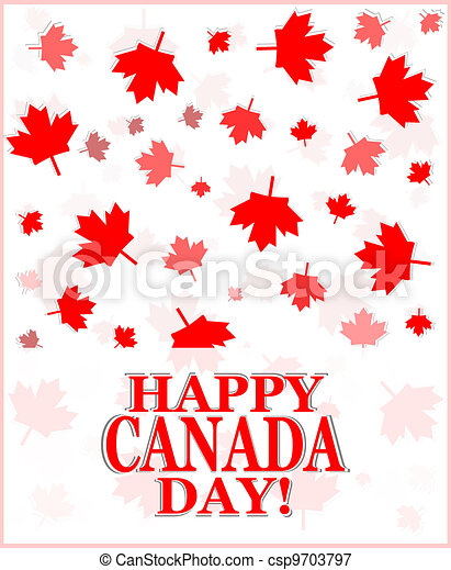 Happy Canada Day greetings card - csp9703797