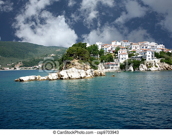 Beautiful island of Skiathos - csp9703943
