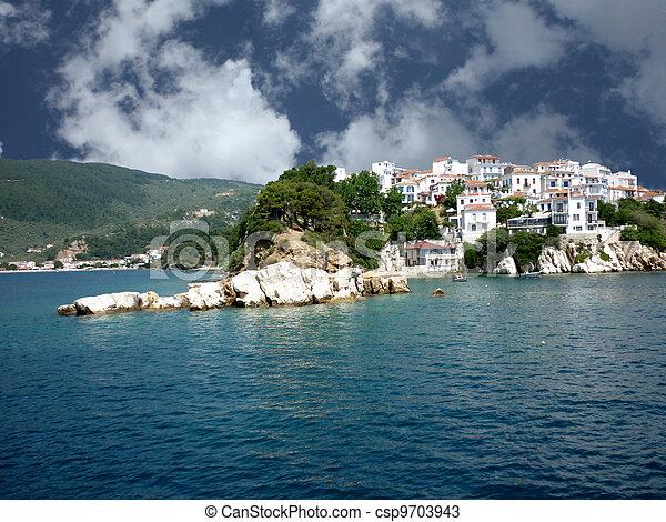 Beautiful island of Skiathos - csp9703943