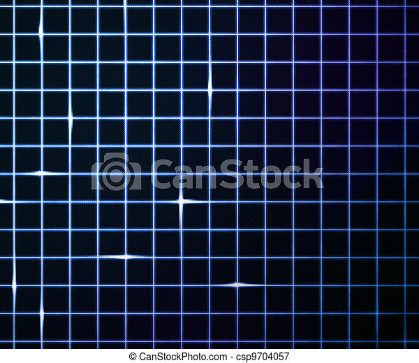 Blue Laser Light Grid Background