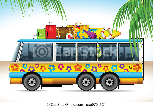 Cartoon Images Of Tour Buses