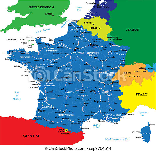 France map - csp9704514