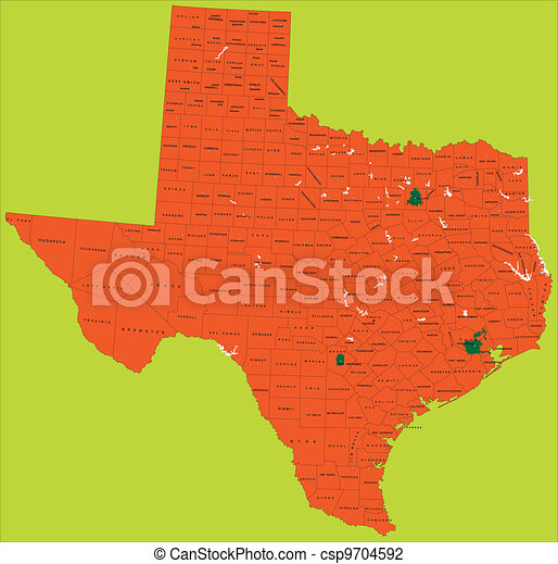 Texas political map - csp9704592