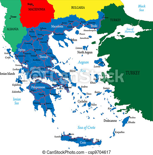 Greece map - csp9704617