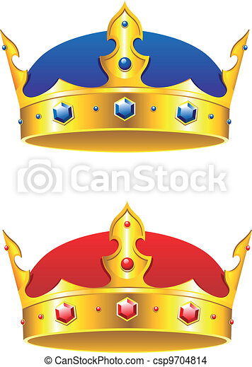 King crown with gems and embellishments - csp9704814