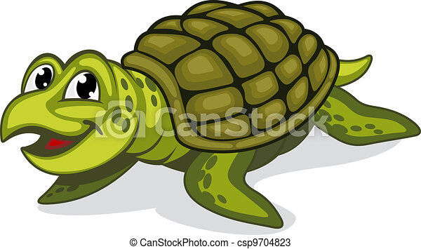 Green turtle reptile - csp9704823