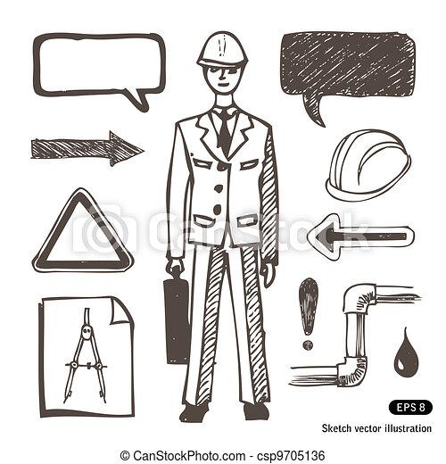 Engineering icons set - csp9705136