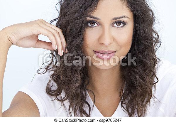 Beautiful Latina Hispanic Woman  - csp9705247