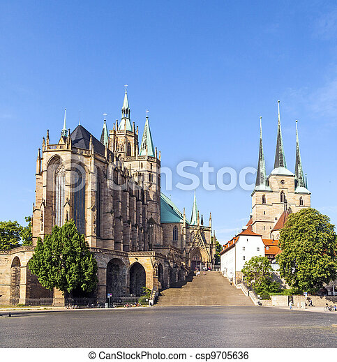 Dom hill of Erfurt Germany - csp9705636