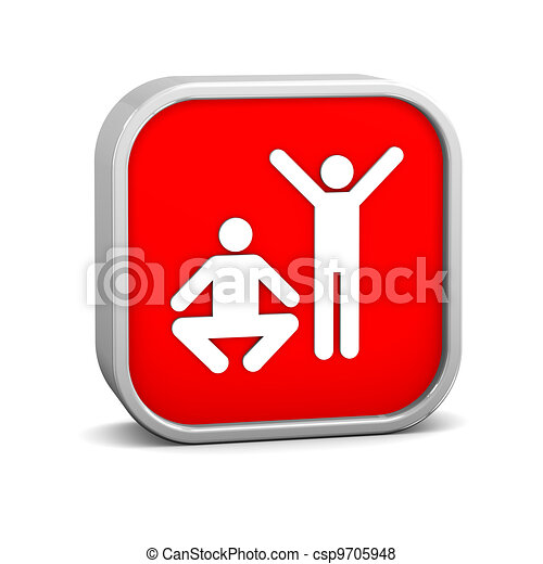 Exercise sign - csp9705948