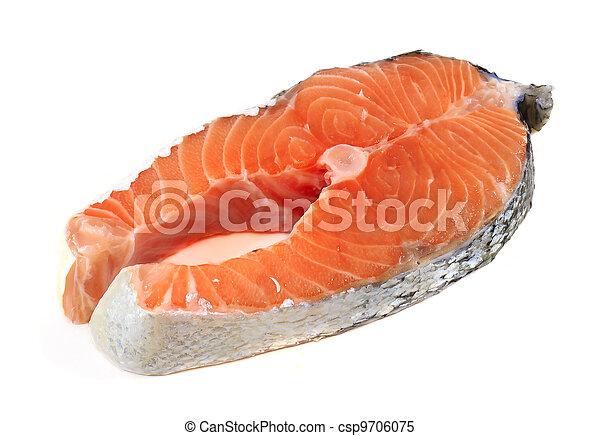 fresh salmon fillet - csp9706075