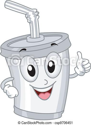 Plastic Cup Mascot - csp9706451