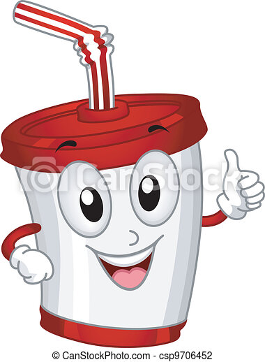 Plastic Cup Mascot - csp9706452