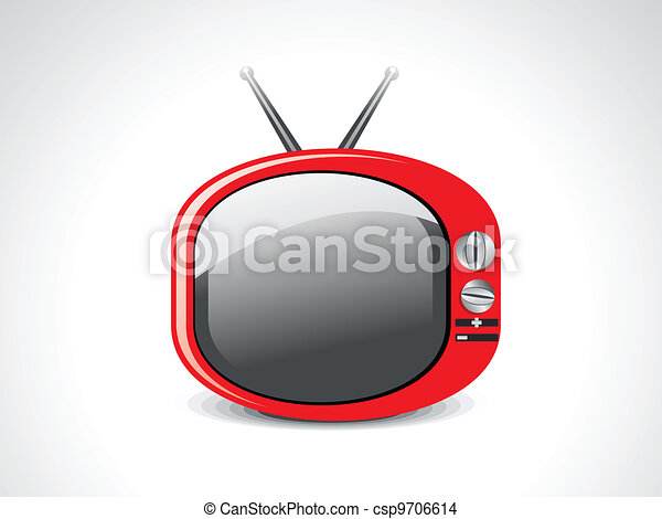 abstract glossy television icon  - csp9706614