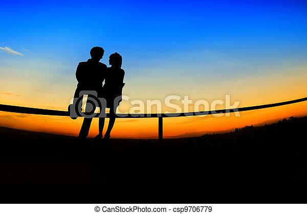 romantic Scene of love,valentine's day - csp9706779