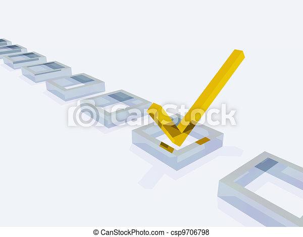 Three Dimension Check Mark - csp9706798