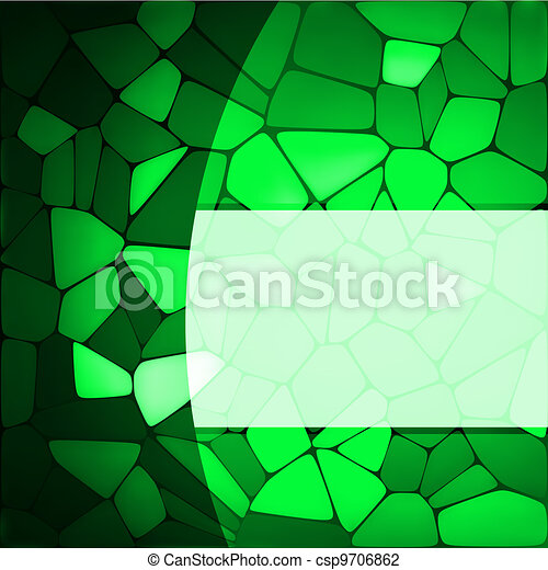 Stained glass design template. EPS 8 - csp9706862