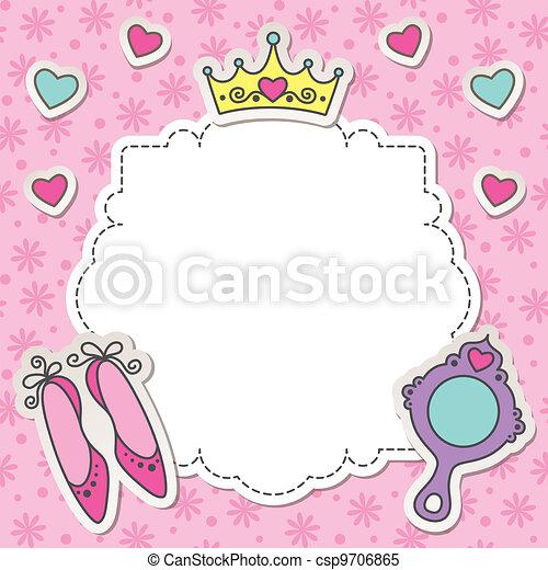 Mirror Frame Drawings Vector Princess Frame