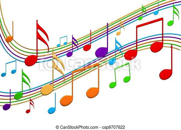 Musical notes - csp9707622