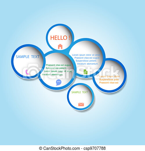 Trendy web design bubble - csp9707788