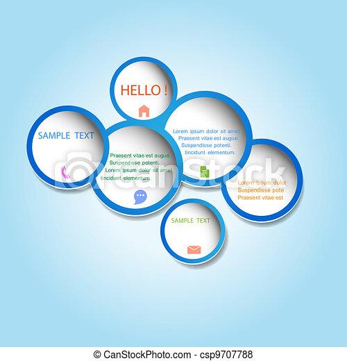 Trendy web design bubble - csp9707788