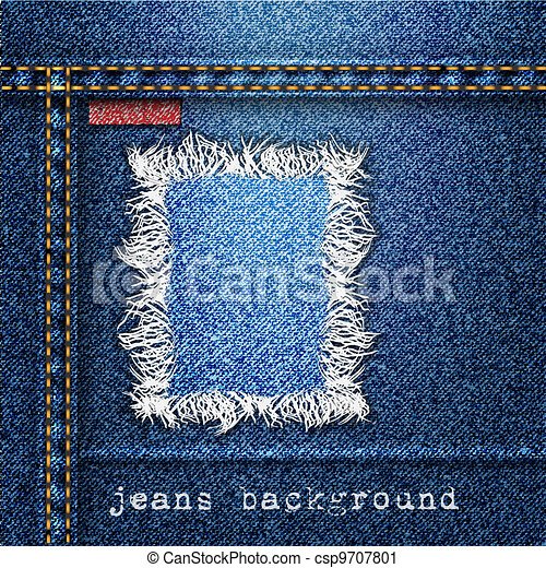 Trendy jeans background - csp9707801