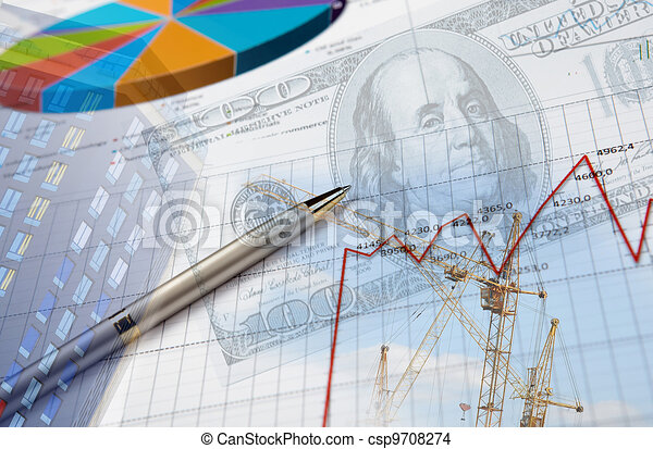 Financial and business charts and graphs - csp9708274