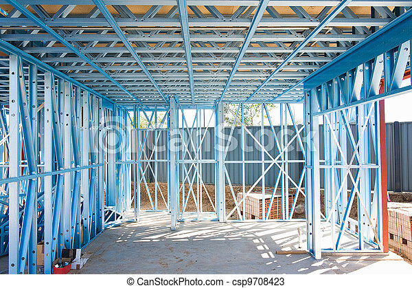 New home construction framing - csp9708423