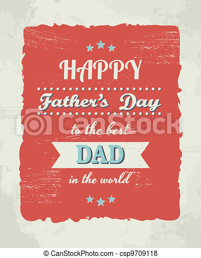 Father's Day Card - csp9709118