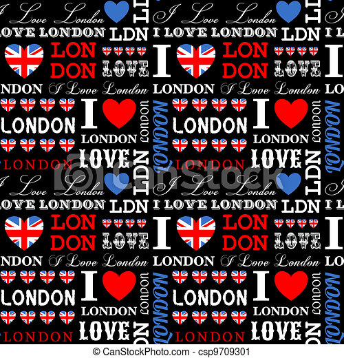 Vector Clip Art of London Background - I Love London ...