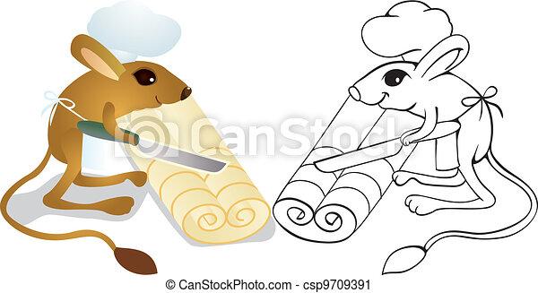 Jerboa chef cuts  dough - csp9709391