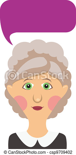 Elderly woman and bubble - csp9709402
