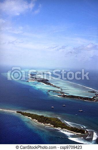 Maldives, aerial - csp9709423